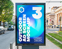 Outdoor Advertising Screen Mock-Ups 15 (v4)