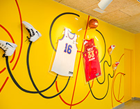 NBA All Stars mural