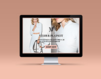 Made In June Velour Playsuit Web Launch