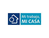 "Logotipo ""Mi trabajo mi casa"" para Holcim Argentina."