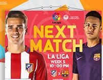 CARD MATCH ( Barcelona & Atlético Madrid ) LA LIGA