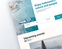 Travel to Indonesia Landing Page