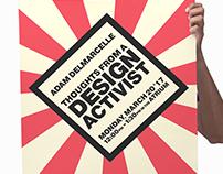 Design Activist Artist Talk - Poster