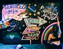 Chalklettering Colaborativo Feira Alternativa La Grue.