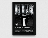 Black Party Flyer Template V4