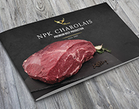 Brochure design for beef company