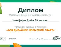 Диплом об обучении веб дизайну