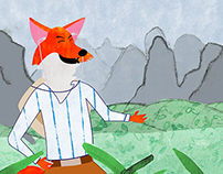 The Jamming Fox narrative illustration