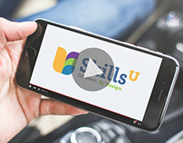 SkillsU Identity, Website and Collaterals