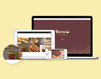 Brew Coffee Shop (Practice web design & development)