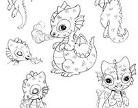 Aurelia y los Antiguos - Diseño de personajes