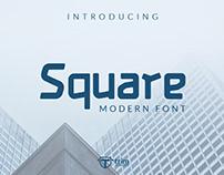 Free Square Display Font