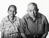 Retratos de habitantes cercanos al Parque Cuscatlán.