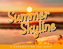 Summer Skyline, A Handwritten San Serif