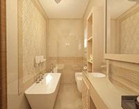 Baie amenajata in stil clasic - Design interior 3d