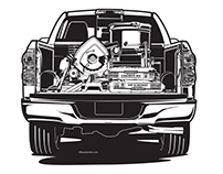Team Toyota illustrations.