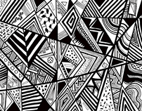 Wilderness B&W pattern