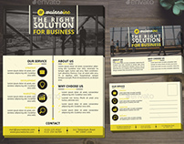 Corporate Business Flyer and Postcard