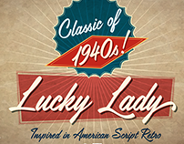 Lucky Lady script typeface