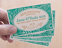 Jane O'Toole MAR Reflexology treatments