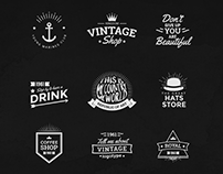 Vintage Logos Template Bundle V1 | DOWNLOAD |