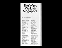 The Ways We Live Singapore, Catalogue of works