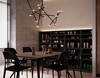 Aria | Kitchen-dining room. Kyiv, Ukraine