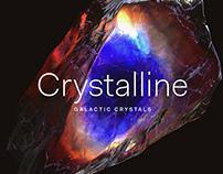 Crystalline Galactic Crystals Designed byRuleByArt