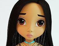 3d model of Pocahontas doll