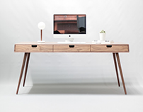 Rina Walnut desk