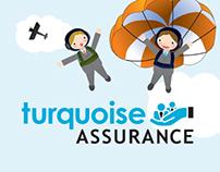 Turquoise Assurance | Web Design & Illustration