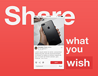 All I want Social Wishlist mobile app design