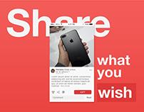 All I want Social Wishlist mobile app design