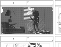 Storyboard- Sneak Peek. (Noir Film Parody)