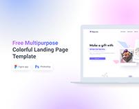 HappyBox – Free Multipurpose Landing Page Template