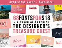 68 Fonts for $18 - The Designers Treasure Chest