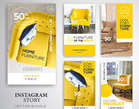 Instagram Stories Template- Theme: Furniture