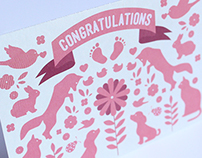 Baby Girl Congratulations Cards