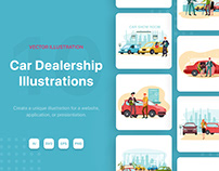 Car Dealership Illustrations