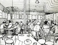 Sketches from Coffee home, Connaught place, New Delhi