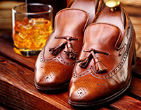 Shoes dream of everyone gentleman.Loafer-brogue