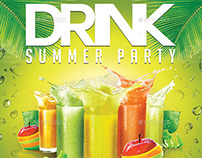 Drink Summer Party | VIP Night Flyer PSD Template