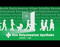 Apothekerverband St. Gallen Infoscreen Animation