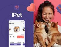1Pet - Mobile app UX/UI Design
