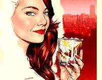 White Russian, Kahlua advertising poster.