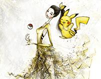 Pokemoda - Pokemon Inspired Haute Couture Illustration