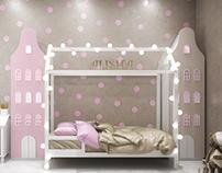 Милая комната для милой принцесски
