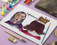 """I. Ilustração Infantil / """"A história da Bruxa Zarolha"""""""