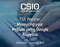 Webinar: Measuring Your Website using Google Analytics