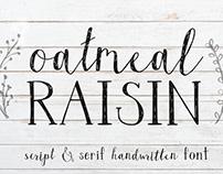 Oatmeal Raisin Handwritten Script Font